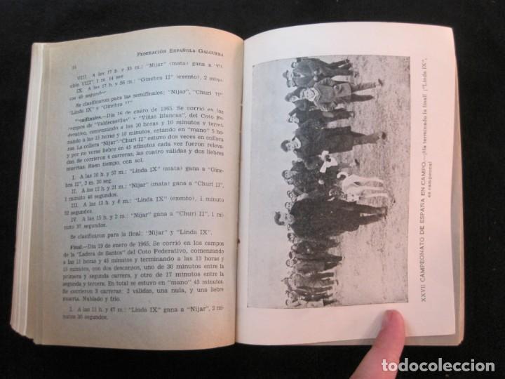 Coleccionismo deportivo: GALGOS-FEDERACION ESPAÑOLA GALGUERA-MEMORIA DEPORTIVA 1965-VER FOTOS-(K-2084) - Foto 38 - 248306145