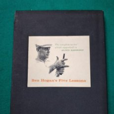 Coleccionismo deportivo: BEN HOGAN'S FIVE LESSONS THE MODERN FUNDAMENTALS OF GOLF. BARNES AND COMPANY 1957. EDITION LUXE.. Lote 252120955
