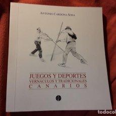 Coleccionismo deportivo: JUEGOS Y DEPORTES VERNÁCULOS Y TRADICIONALES CANARIOS, DE ANTONIO CARDONA. UNICO EN TC. CAZA. Lote 252648975