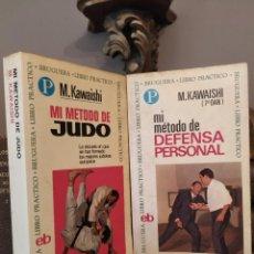 Colecionismo desportivo: M. KAWAHISHIB MI MÉTODO DE JUDO + MI MÉTODO DE DEFENSA PERSONAL + REGALO. Lote 253085740