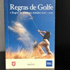 Coleccionismo deportivo: REGRAS DE GOLFE E REGRAS DO ESTATO AMADOR 2012-2015 DE FEDERAÇÃO PORTUGUESA DO GOLFE/R&A. Lote 253823720