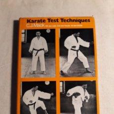 Coleccionismo deportivo: MACK, C.J. KARATE TEST TECHNIQUES. Lote 254231515