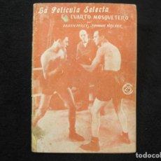 Coleccionismo deportivo: BOXEO-CUARTO MOSQUETERO-EILEEN PERCY Y JOHNY WALKER-LA PELICULA SELECTA-VER FOTOS-(K-2177). Lote 254269600