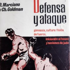 Coleccionismo deportivo: DEFENSA Y ATAQUE BOXEO Y NOCIONES DE JUDO ROCKY MARCIANO CHARLEY GOLDMAN AL BACHMAN HERACLES 1965. Lote 255460170