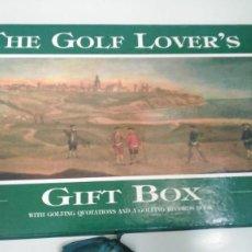 Coleccionismo deportivo: CAJA REGALO GOLF LOVER'S. Lote 257376825