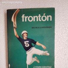 Coleccionismo deportivo: FRONTON J.ROVIRA SANCHEZ. Lote 261244740