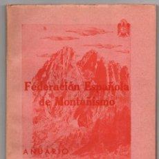 Coleccionismo deportivo: FEDERACION ESPAÑOLA DE MONTAÑISMO. ANUARIO 1953-54. Lote 261353460