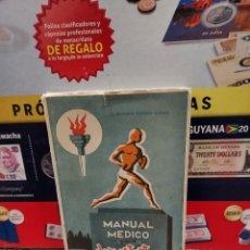 Coleccionismo deportivo: MANUAL MEDICO PARA EL DEPORTISTA....1953..... Lote 261573205