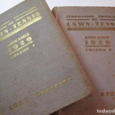 Coleccionismo deportivo: FEDERATION FRANÇAISE DE LAWN TENNIS-ANNUAIRE 1929-2 VOL-VER FOTOS-(V-22.745). Lote 261834835