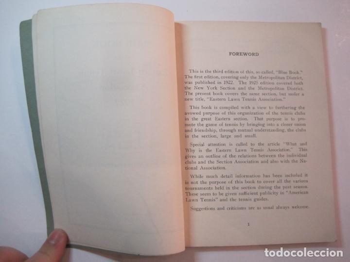 Coleccionismo deportivo: BLUE BOOK OF THE EASTERN LAWN TENNIS ASSOCIATION-LIBRO AÑO 1927-VER FOTOS-(V-22.746) - Foto 8 - 261836010