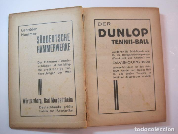 Coleccionismo deportivo: ÖSTERREICHISCHES TENNIS JAHRBUCH-LIBRO AÑO 1929-ANUARIO DE TENIS AUSTRIA-VER FOTOS-(V-22.747) - Foto 6 - 261836860