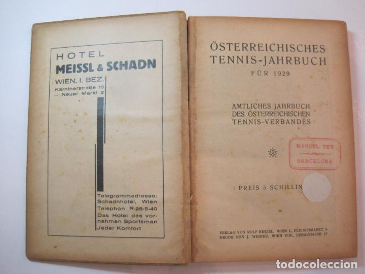 Coleccionismo deportivo: ÖSTERREICHISCHES TENNIS JAHRBUCH-LIBRO AÑO 1929-ANUARIO DE TENIS AUSTRIA-VER FOTOS-(V-22.747) - Foto 8 - 261836860