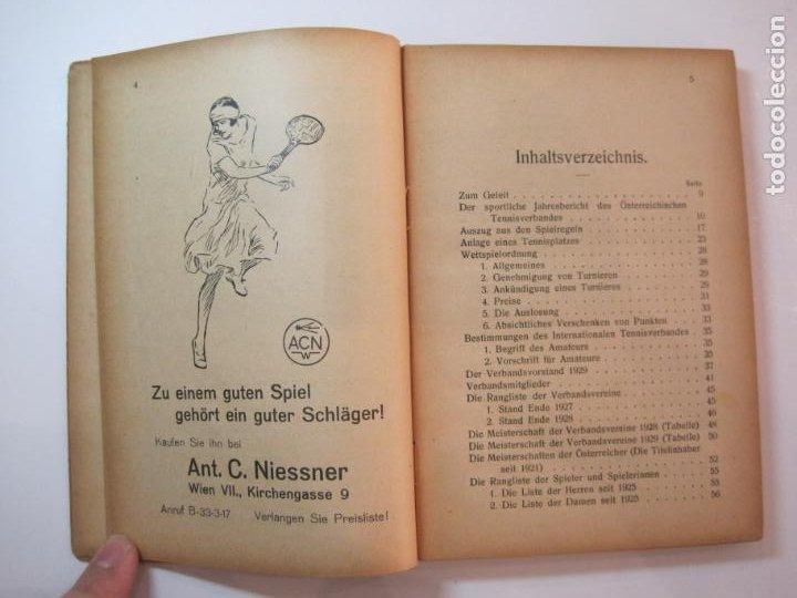 Coleccionismo deportivo: ÖSTERREICHISCHES TENNIS JAHRBUCH-LIBRO AÑO 1929-ANUARIO DE TENIS AUSTRIA-VER FOTOS-(V-22.747) - Foto 13 - 261836860