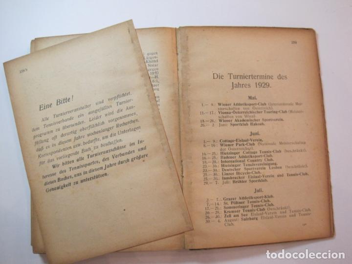 Coleccionismo deportivo: ÖSTERREICHISCHES TENNIS JAHRBUCH-LIBRO AÑO 1929-ANUARIO DE TENIS AUSTRIA-VER FOTOS-(V-22.747) - Foto 28 - 261836860