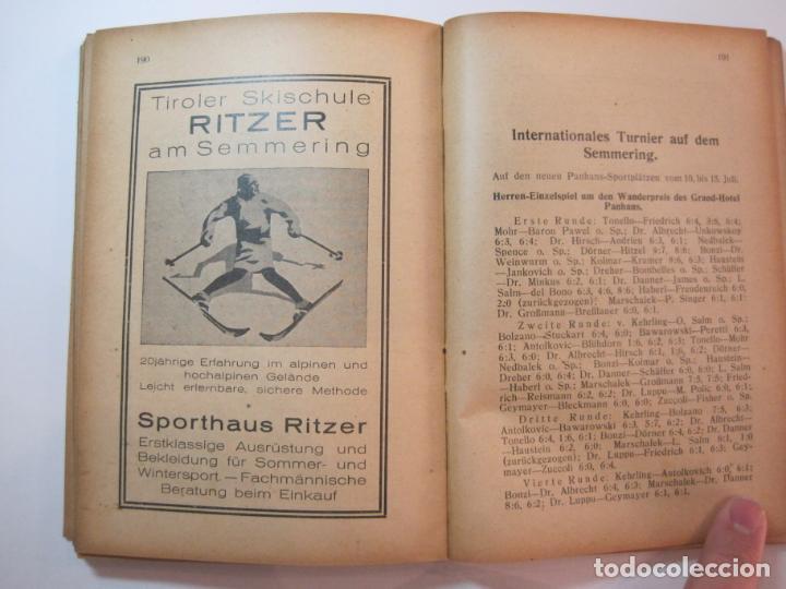 Coleccionismo deportivo: ÖSTERREICHISCHES TENNIS JAHRBUCH-LIBRO AÑO 1929-ANUARIO DE TENIS AUSTRIA-VER FOTOS-(V-22.747) - Foto 29 - 261836860