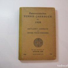 Coleccionismo deportivo: ÖSTERREICHISCHES TENNIS JAHRBUCH-LIBRO AÑO 1929-ANUARIO DE TENIS AUSTRIA-VER FOTOS-(V-22.747). Lote 261836860