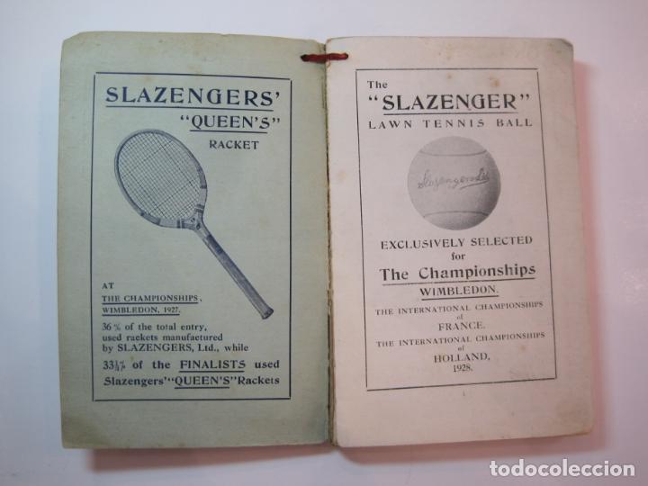 Coleccionismo deportivo: THE LAWN TENNIS ASSOCIATIONS ANNUAL HANDBOOK-LIBRO AÑO 1928-VER FOTOS-(V-22.749) - Foto 7 - 261840630