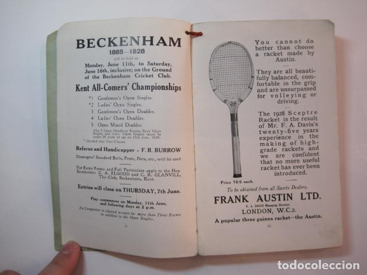 Coleccionismo deportivo: THE LAWN TENNIS ASSOCIATIONS ANNUAL HANDBOOK-LIBRO AÑO 1928-VER FOTOS-(V-22.749) - Foto 8 - 261840630