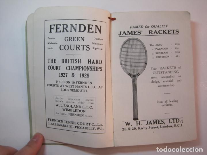 Coleccionismo deportivo: THE LAWN TENNIS ASSOCIATIONS ANNUAL HANDBOOK-LIBRO AÑO 1928-VER FOTOS-(V-22.749) - Foto 9 - 261840630