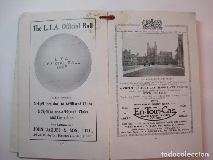 Coleccionismo deportivo: THE LAWN TENNIS ASSOCIATIONS ANNUAL HANDBOOK-LIBRO AÑO 1928-VER FOTOS-(V-22.749) - Foto 15 - 261840630