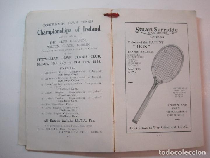 Coleccionismo deportivo: THE LAWN TENNIS ASSOCIATIONS ANNUAL HANDBOOK-LIBRO AÑO 1928-VER FOTOS-(V-22.749) - Foto 16 - 261840630