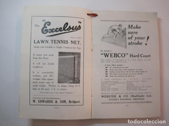Coleccionismo deportivo: THE LAWN TENNIS ASSOCIATIONS ANNUAL HANDBOOK-LIBRO AÑO 1928-VER FOTOS-(V-22.749) - Foto 17 - 261840630