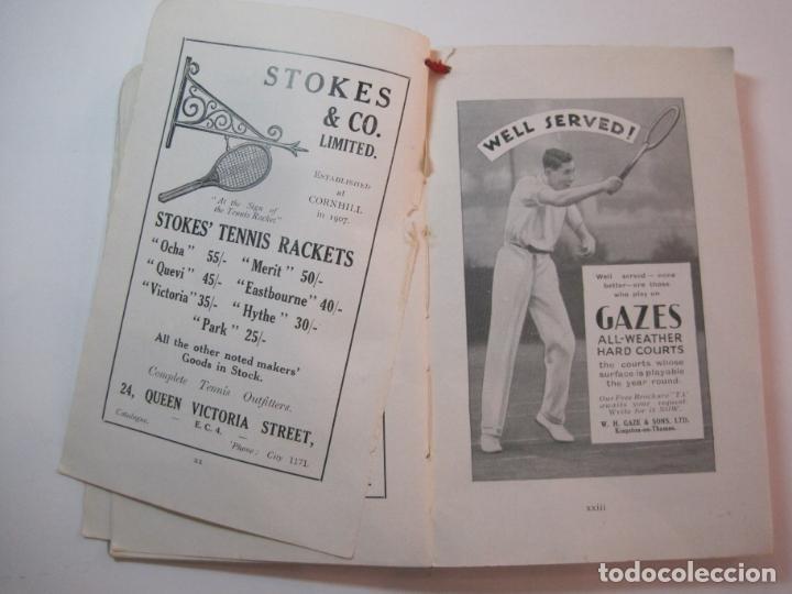 Coleccionismo deportivo: THE LAWN TENNIS ASSOCIATIONS ANNUAL HANDBOOK-LIBRO AÑO 1928-VER FOTOS-(V-22.749) - Foto 18 - 261840630