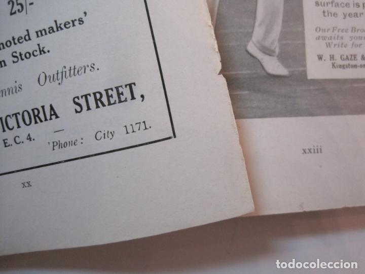 Coleccionismo deportivo: THE LAWN TENNIS ASSOCIATIONS ANNUAL HANDBOOK-LIBRO AÑO 1928-VER FOTOS-(V-22.749) - Foto 19 - 261840630