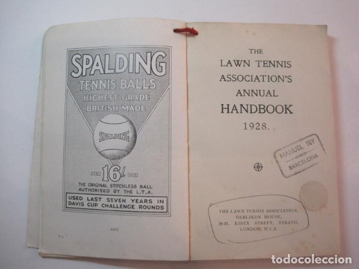 Coleccionismo deportivo: THE LAWN TENNIS ASSOCIATIONS ANNUAL HANDBOOK-LIBRO AÑO 1928-VER FOTOS-(V-22.749) - Foto 20 - 261840630