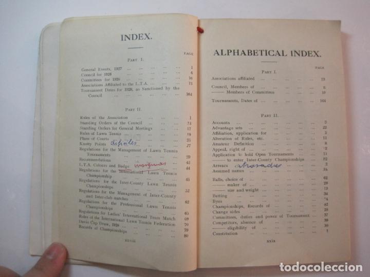 Coleccionismo deportivo: THE LAWN TENNIS ASSOCIATIONS ANNUAL HANDBOOK-LIBRO AÑO 1928-VER FOTOS-(V-22.749) - Foto 22 - 261840630