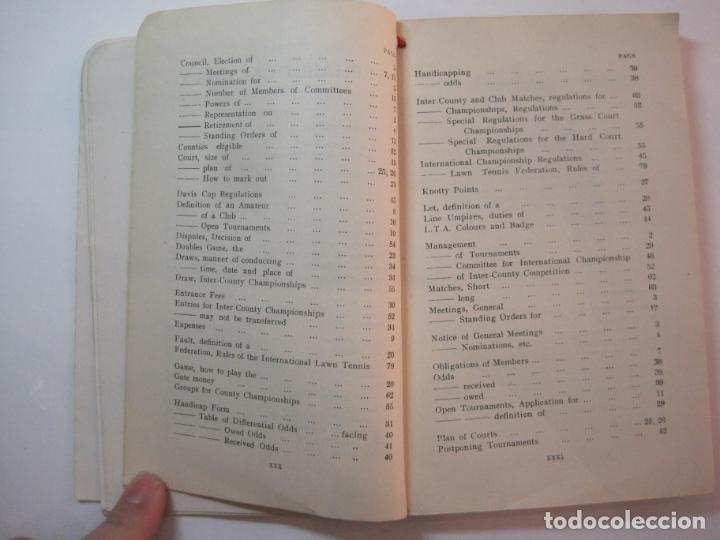 Coleccionismo deportivo: THE LAWN TENNIS ASSOCIATIONS ANNUAL HANDBOOK-LIBRO AÑO 1928-VER FOTOS-(V-22.749) - Foto 23 - 261840630