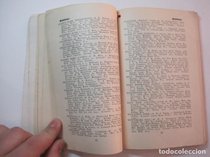 Coleccionismo deportivo: THE LAWN TENNIS ASSOCIATIONS ANNUAL HANDBOOK-LIBRO AÑO 1928-VER FOTOS-(V-22.749) - Foto 25 - 261840630