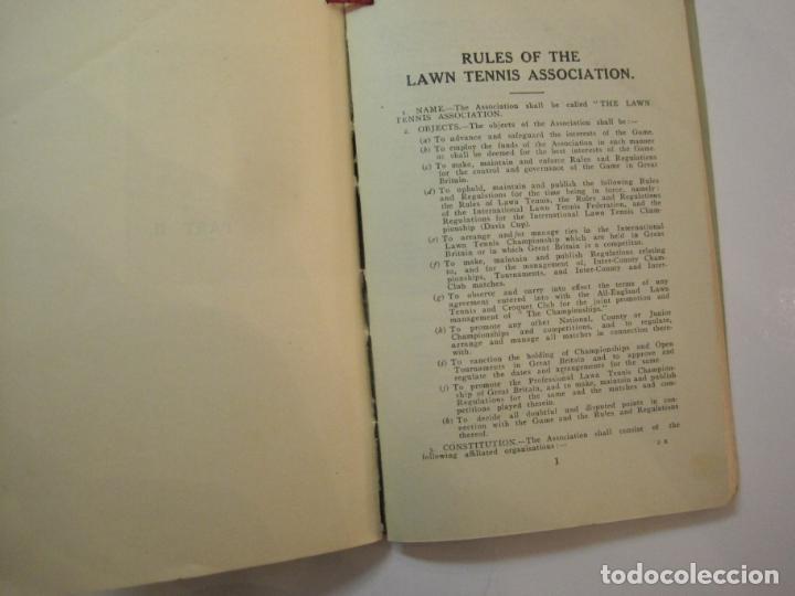 Coleccionismo deportivo: THE LAWN TENNIS ASSOCIATIONS ANNUAL HANDBOOK-LIBRO AÑO 1928-VER FOTOS-(V-22.749) - Foto 29 - 261840630