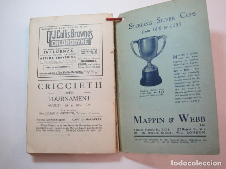 Coleccionismo deportivo: THE LAWN TENNIS ASSOCIATIONS ANNUAL HANDBOOK-LIBRO AÑO 1928-VER FOTOS-(V-22.749) - Foto 32 - 261840630
