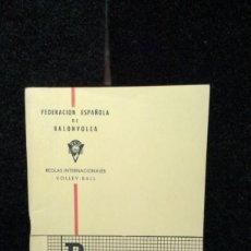 Coleccionismo deportivo: REGLAS INTERNACIONALES DE BALONVOLEA - VOLEIBOL - AÑO 1963. Lote 262075095