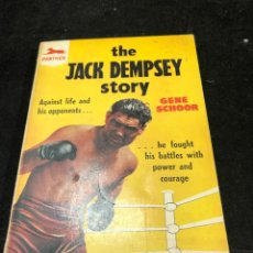 Coleccionismo deportivo: BOXEO: THE JACK DEMPSEY STORY BY GENE SCHOOR. PANTHER 1958 EN INGLÉS.. Lote 262513135