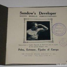 Coleccionismo deportivo: (M) CATALOGO SANDOW'S DEVELOPER NUEVO MODELO, INSTRUCCIONES CUADROS DE EJERCICIOS, GIMNASIA. Lote 262745175