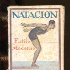 Colecionismo desportivo: NATACIÓN ESTILO MODERNO. LIBRERIA CATALONIA 1925.. Lote 262924255