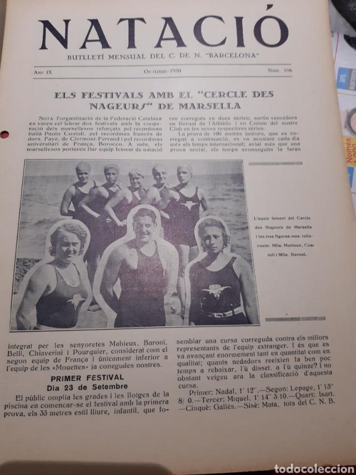 Coleccionismo deportivo: Llibre del Club Natació Barcelona - Foto 3 - 263203290