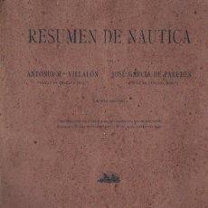 Coleccionismo deportivo: VILLALÓN - GARCÍA DE PAREDES : RESUMEN DE NÁUTICA (1932). Lote 266176023