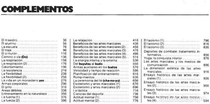 Coleccionismo deportivo: ARTES MARCIALES. COMPLETA 4 TOMOS. KARATE. JUDO. AIKIDO. FULL CONTACT. KUNG FU. KENDO. - Foto 25 - 266832849