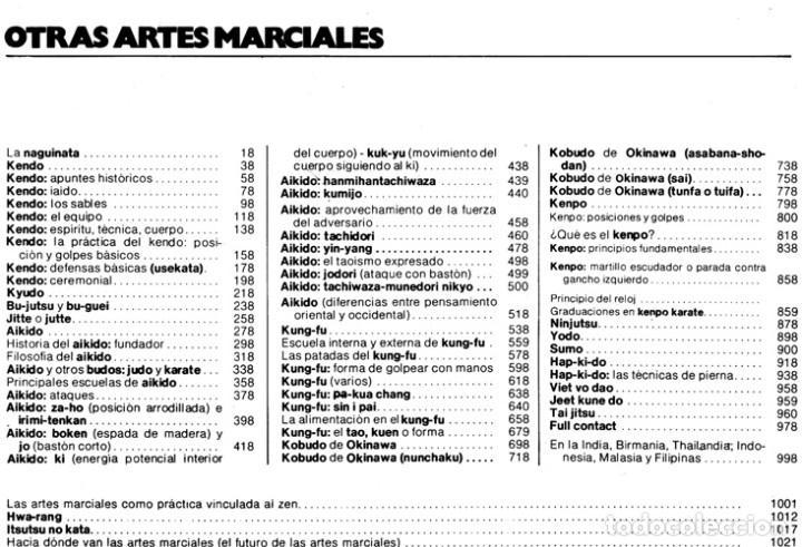 Coleccionismo deportivo: ARTES MARCIALES. COMPLETA 4 TOMOS. KARATE. JUDO. AIKIDO. FULL CONTACT. KUNG FU. KENDO. - Foto 26 - 266832849