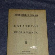 Coleccionismo deportivo: (M-3.7) PELOTA VASCA - FEDERACION CATALANA DE PELOTA VASCA, ESTATUTOS Y REGLAMENTO, BARCELONA 1925. Lote 268406039
