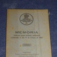 Coleccionismo deportivo: (M-3.7) LIBRO PELOTA VASCA - MEMORIA 1923 , REAL SOCIEDAD SPORT-VASCO BARCELONA BARCELONA 1923. Lote 268406194