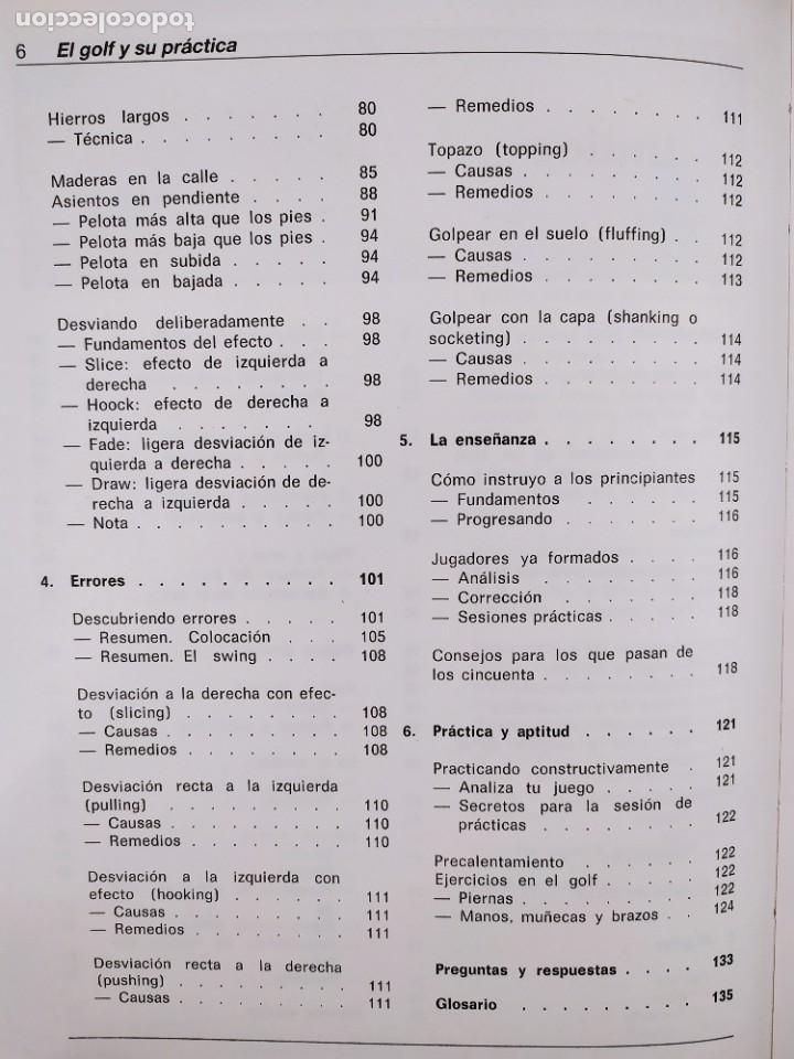 Coleccionismo deportivo: EL GOLF Y SU PRACTICA / JOHN STIRLING / 1988. HISPANO EUROPEA - Foto 3 - 269349288