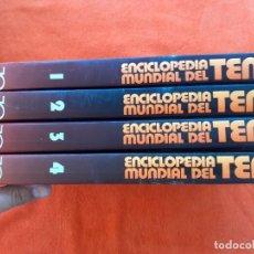 Coleccionismo deportivo: ENCICLOPEDIA MUNDIAL DEL TENIS. EDITORIAL OCEANO. COMPLETA 4 TOMOS. Lote 269601248