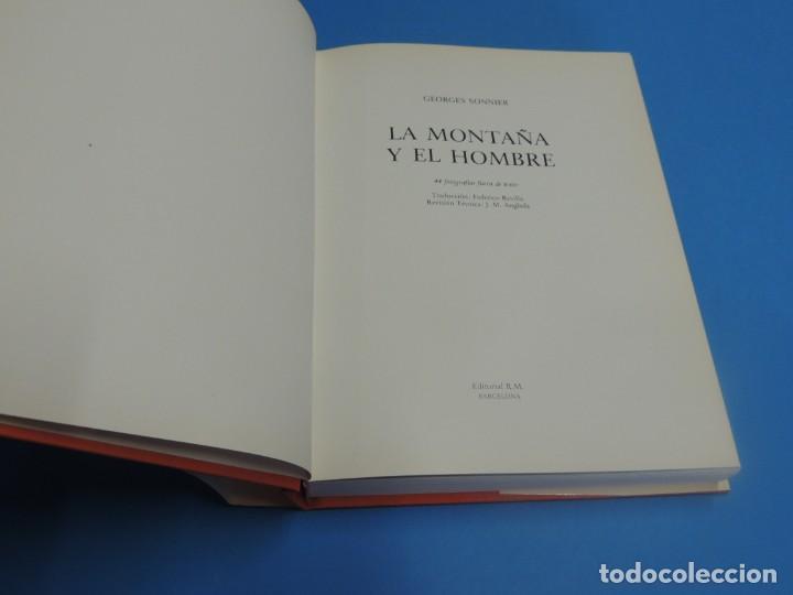 Coleccionismo deportivo: LA MONTAÑA Y EL HOMBRE.- GEORGES SONNIER - Foto 3 - 270669583