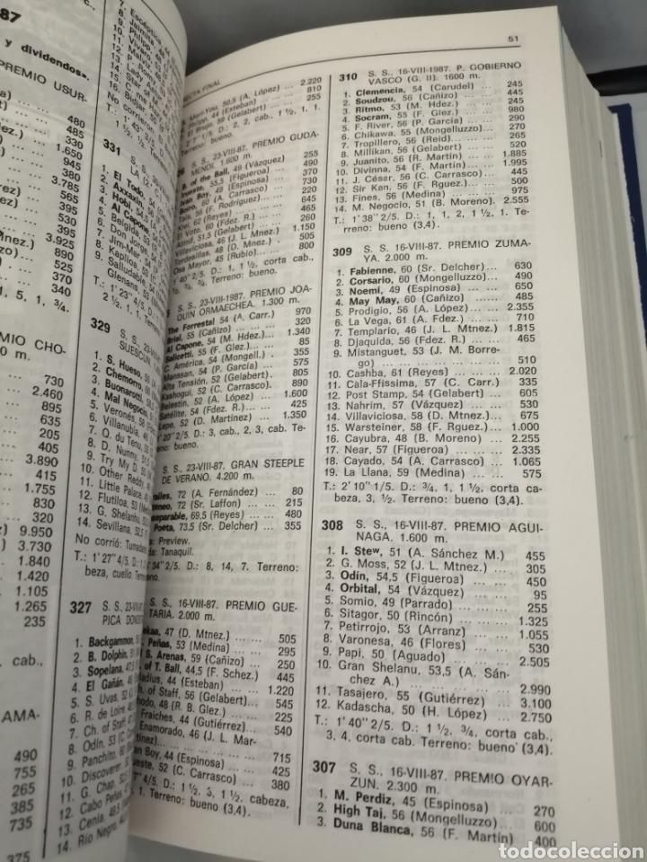 Coleccionismo deportivo: RECTA FINAL. REVISTA HÍPICA: TOMO CON 17 NÚMEROS: DE 369 (1/09/1987) A 385 (29/12/1987) - Foto 5 - 270679423