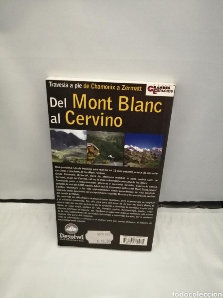 Coleccionismo deportivo: DEL MONT BLANC AL CERVINO (PRIMERA EDICIÓN) - Foto 2 - 270683198