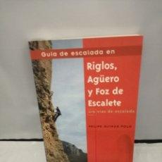 Coleccionismo deportivo: GUÍA DE ESCALADA EN RIGLOS, AGUERO Y FOZ DE ESCALETE (CUARTA EDICIÓN REVISADA Y AMPLIADA). Lote 270683753
